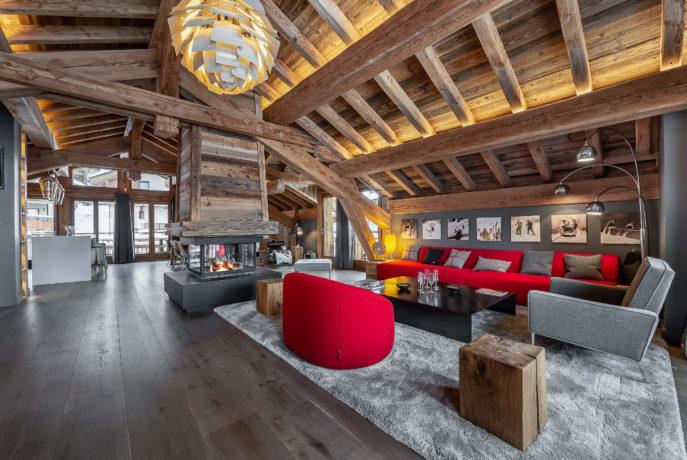 Ferme de 1779 - salon 2 / Saint Martin de Belleville, Savoie
