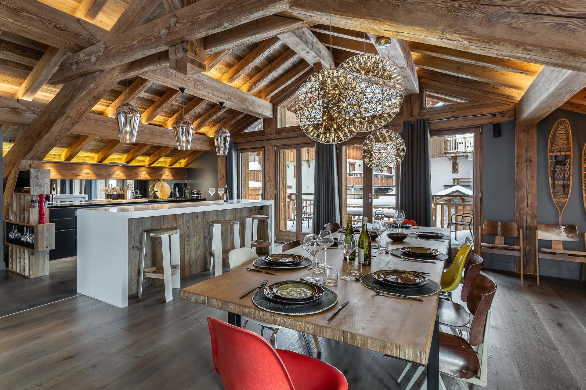 Ferme de 1779 - salle à manger 1 / Saint Martin de Belleville, Savoie