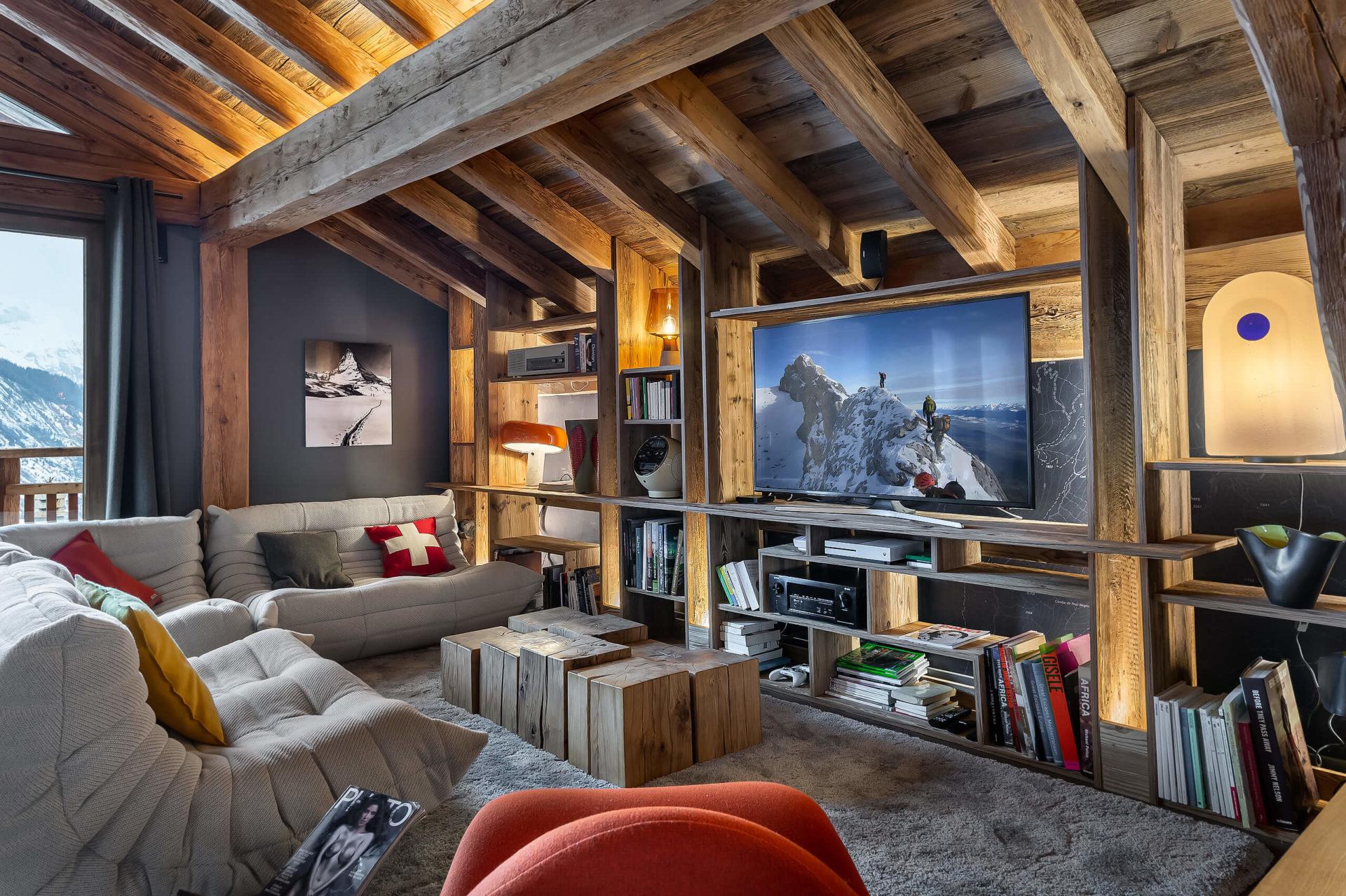 Ferme de 1779 - coin TV / Saint Martin de Belleville, Savoie