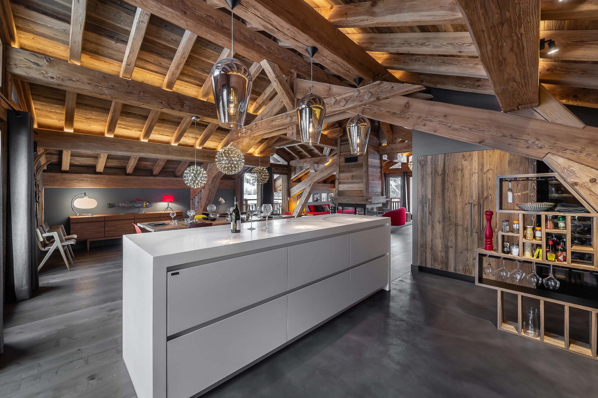Ferme de 1779 - cuisine 2 / Saint Martin de Belleville, Savoie