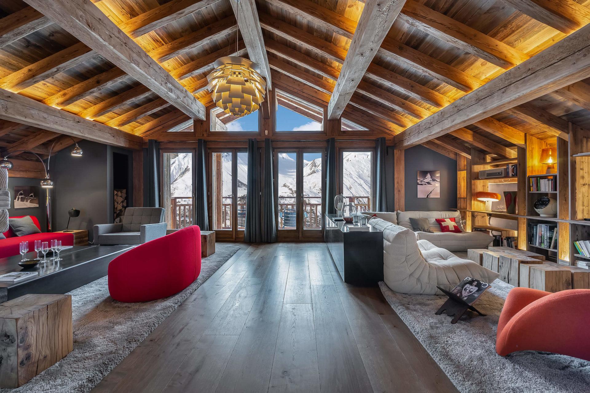Ferme de 1779 - salon 1 / Saint Martin de Belleville, Savoie