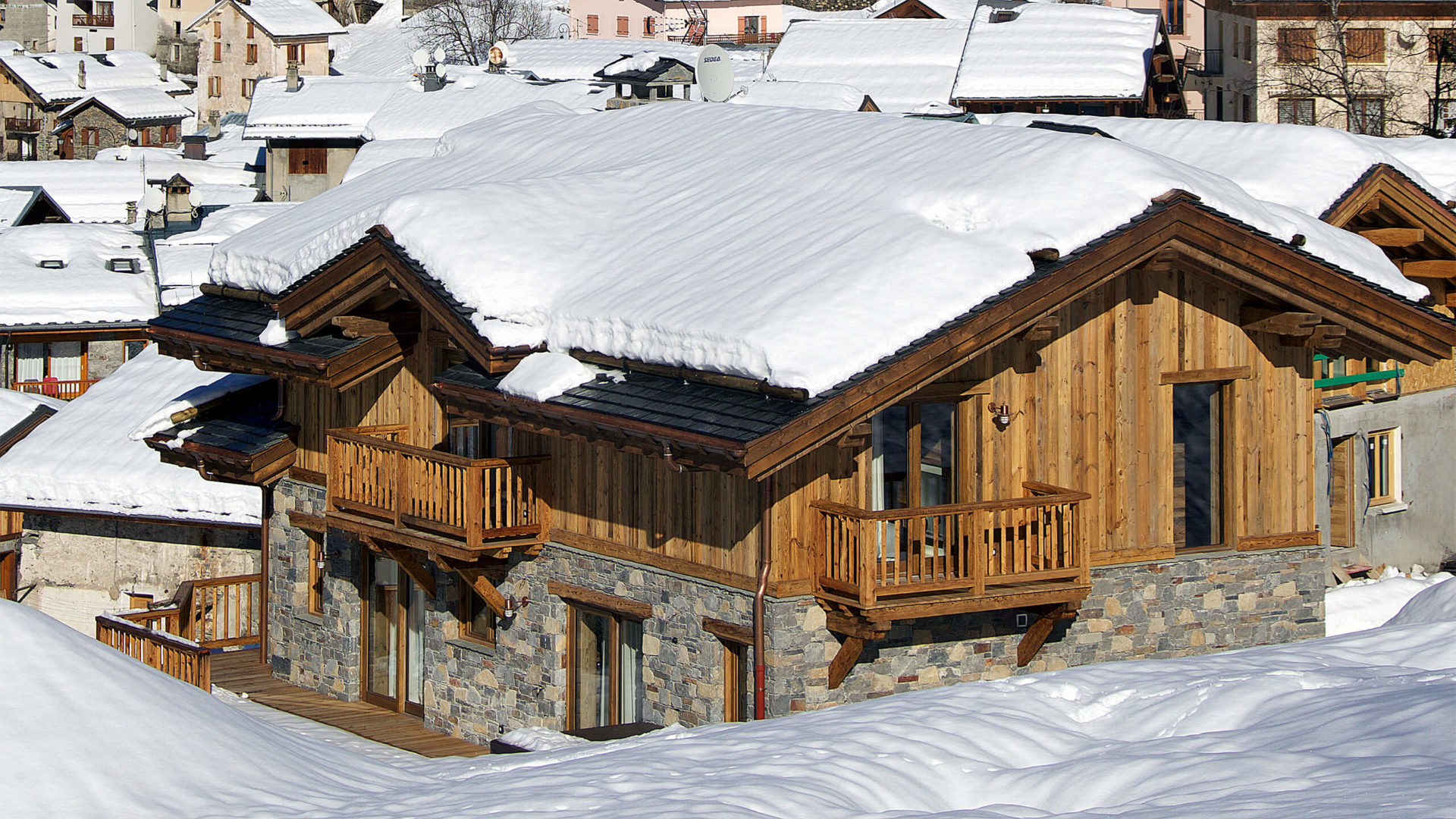 Chalet Mehrotra Vue 2 - Saint Martin de Belleville, Savoie
