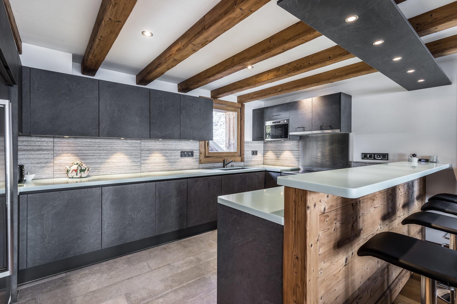 Chalet Roc de Fer cuisine Saint Martin de Belleville, Savoie