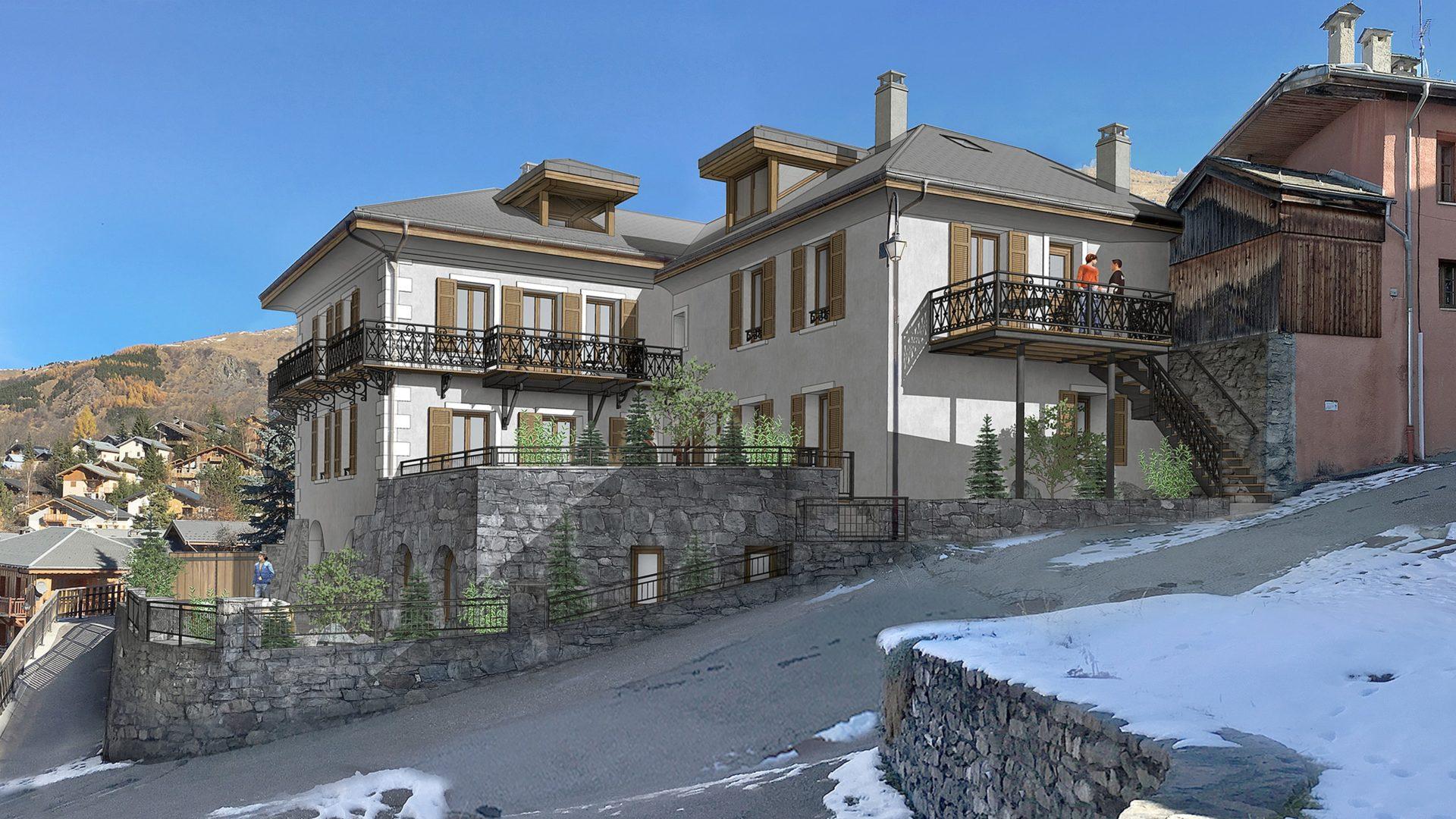 L'Épicerie / perspective / Saint Martin de Belleville, Savoie