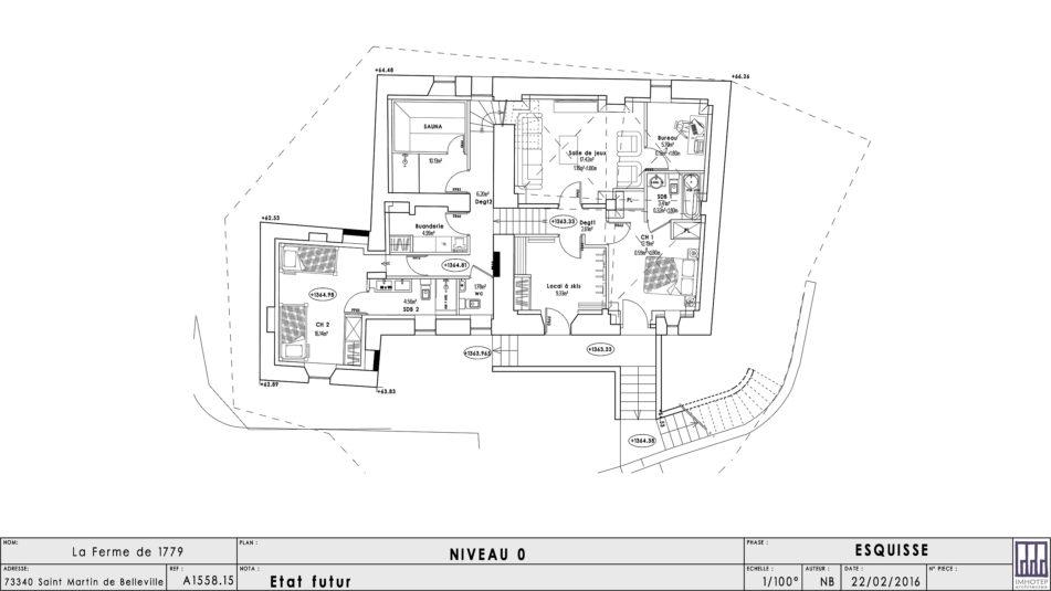 Plan architecte - Niveau 0