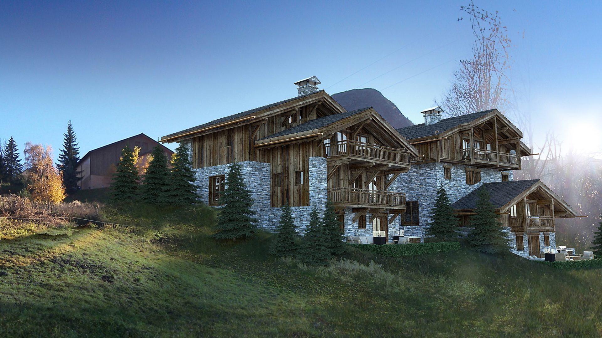 Les Chalets du Nant du Four / Chalet Opale Perspective 3 / Saint Martin de Belleville, Savoie