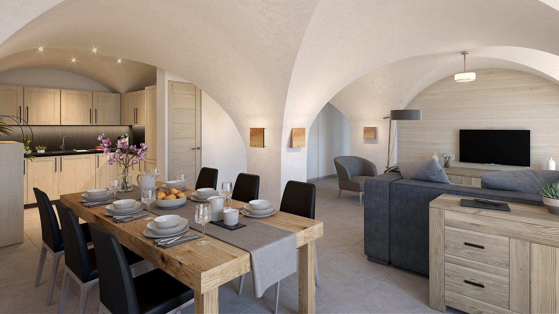 L'Épicerie / Appartement 1 / Saint Martin de Belleville, Savoie