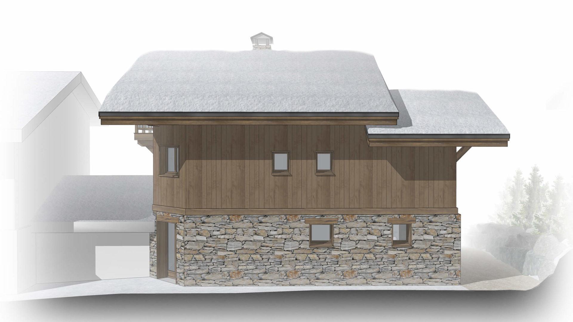 Chalet Amethyste / Façade Est Saint Martin de Belleville, Savoie