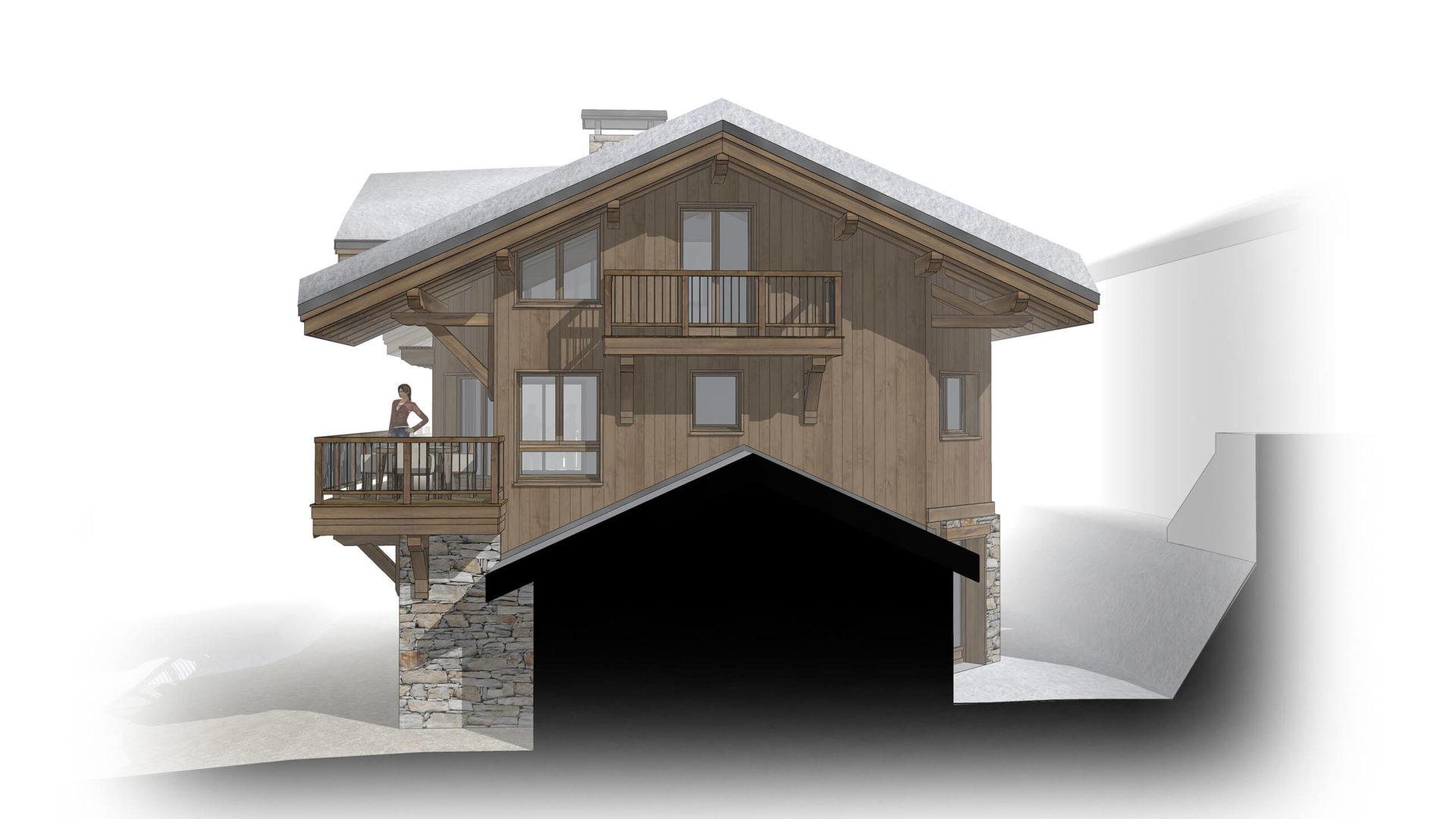 Chalet Amethyste / Façade Sud Saint Martin de Belleville, Savoie