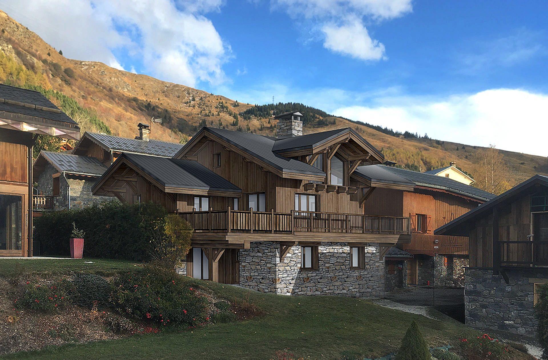 Chalet Amethyste / perspective 1 Saint Martin de Belleville, Savoie