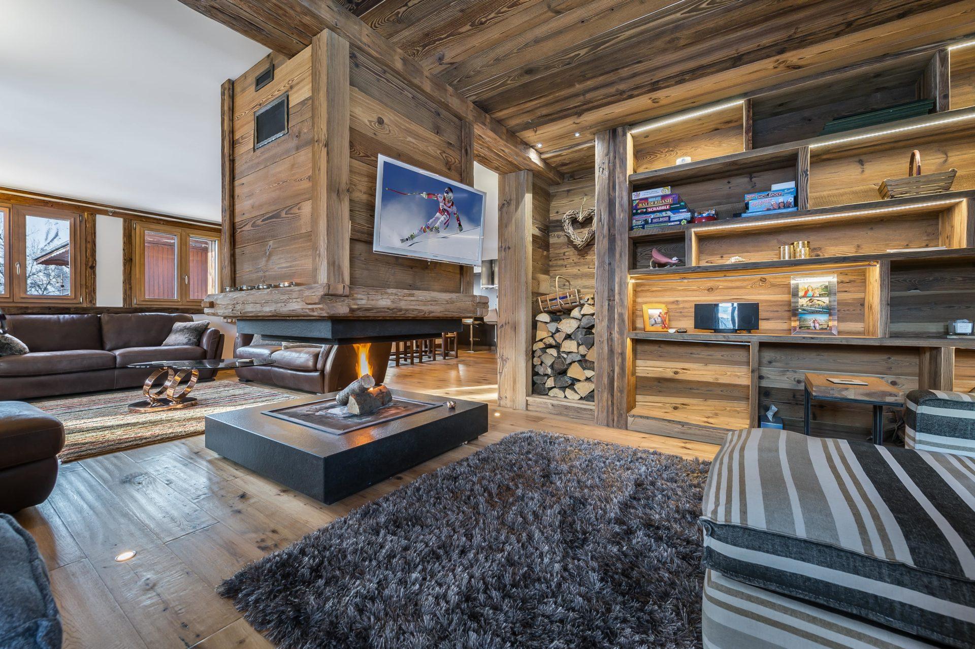 Chalet Chanterelle Salon 1 Villarabout Saint Martin de Belleville, Savoie