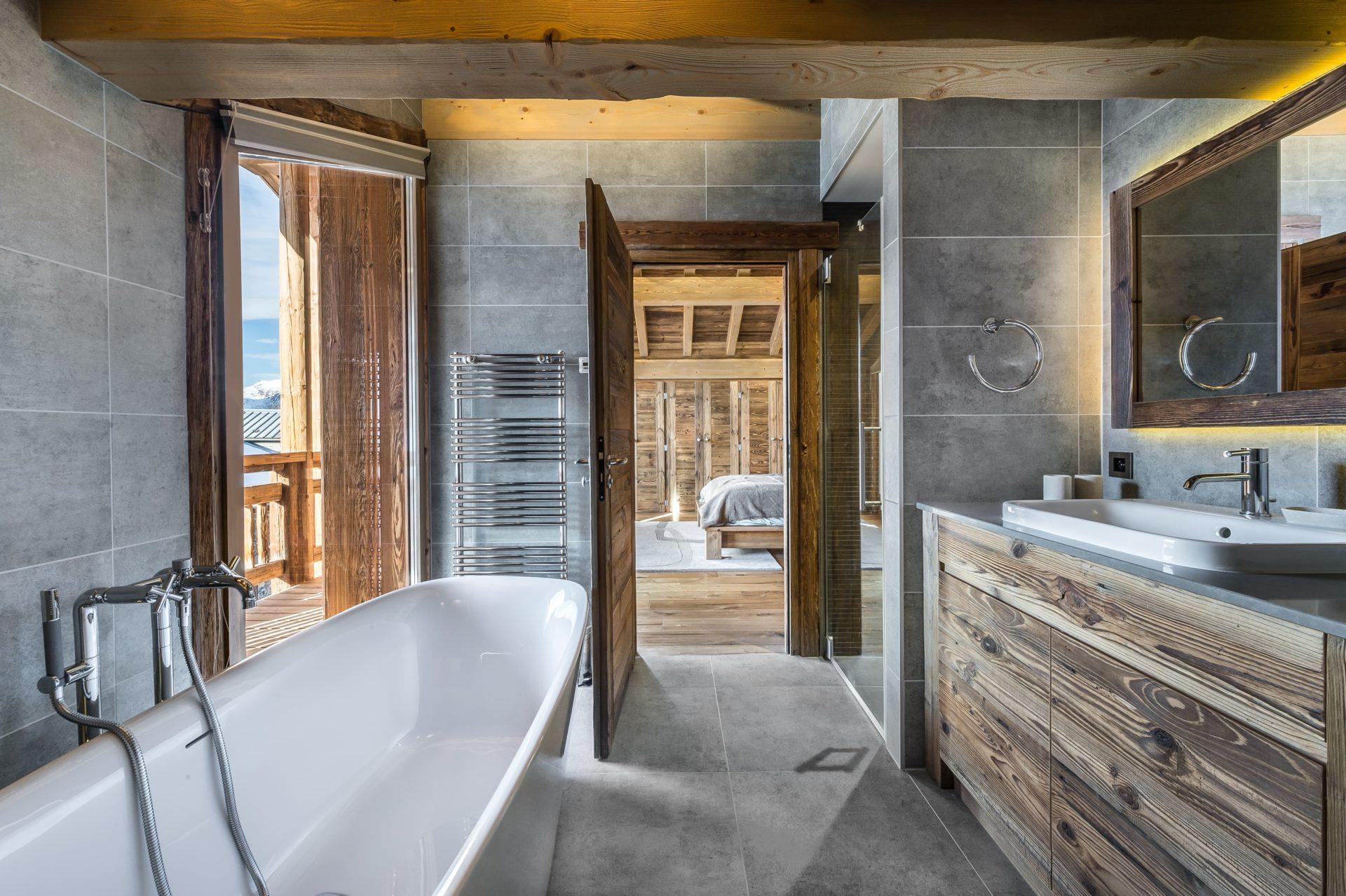 Chalet Chanterelle Salle de bain 1 Villarabout Saint Martin de Belleville, Savoie