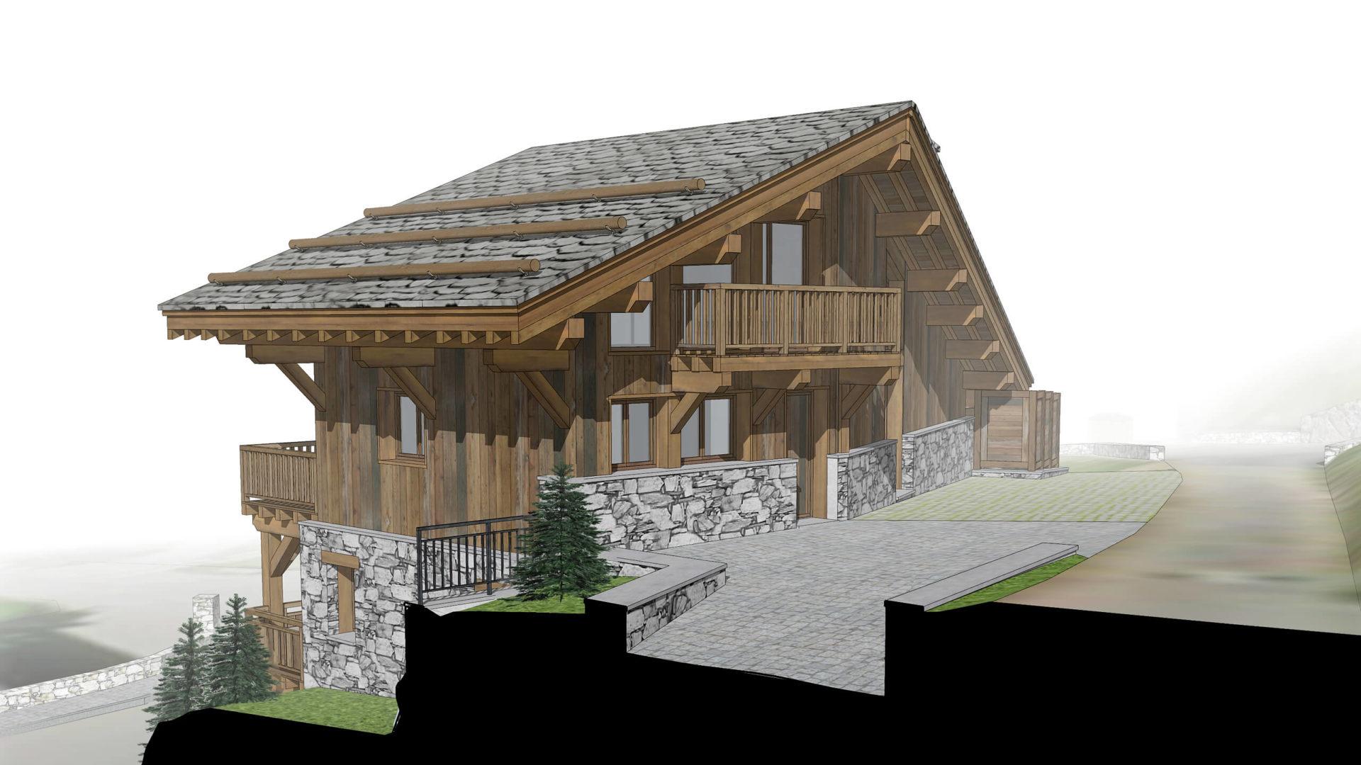 Les Chalets de la Combe Chalet 4 - Saint Martin de Belleville Savoie France