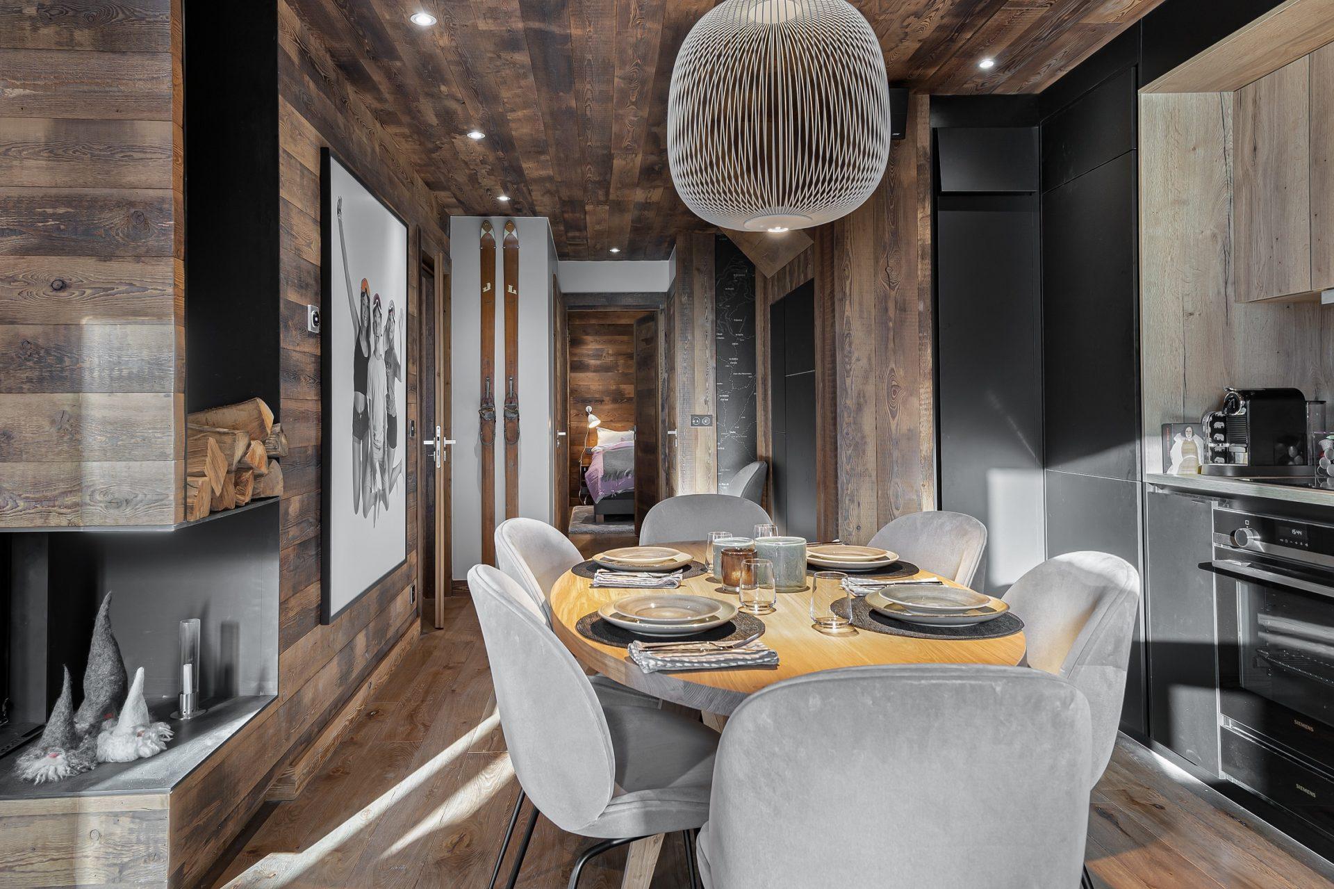 L'Epicerie / Appartement 3 / Salle à manger/ Saint Martin de Belleville, Savoie