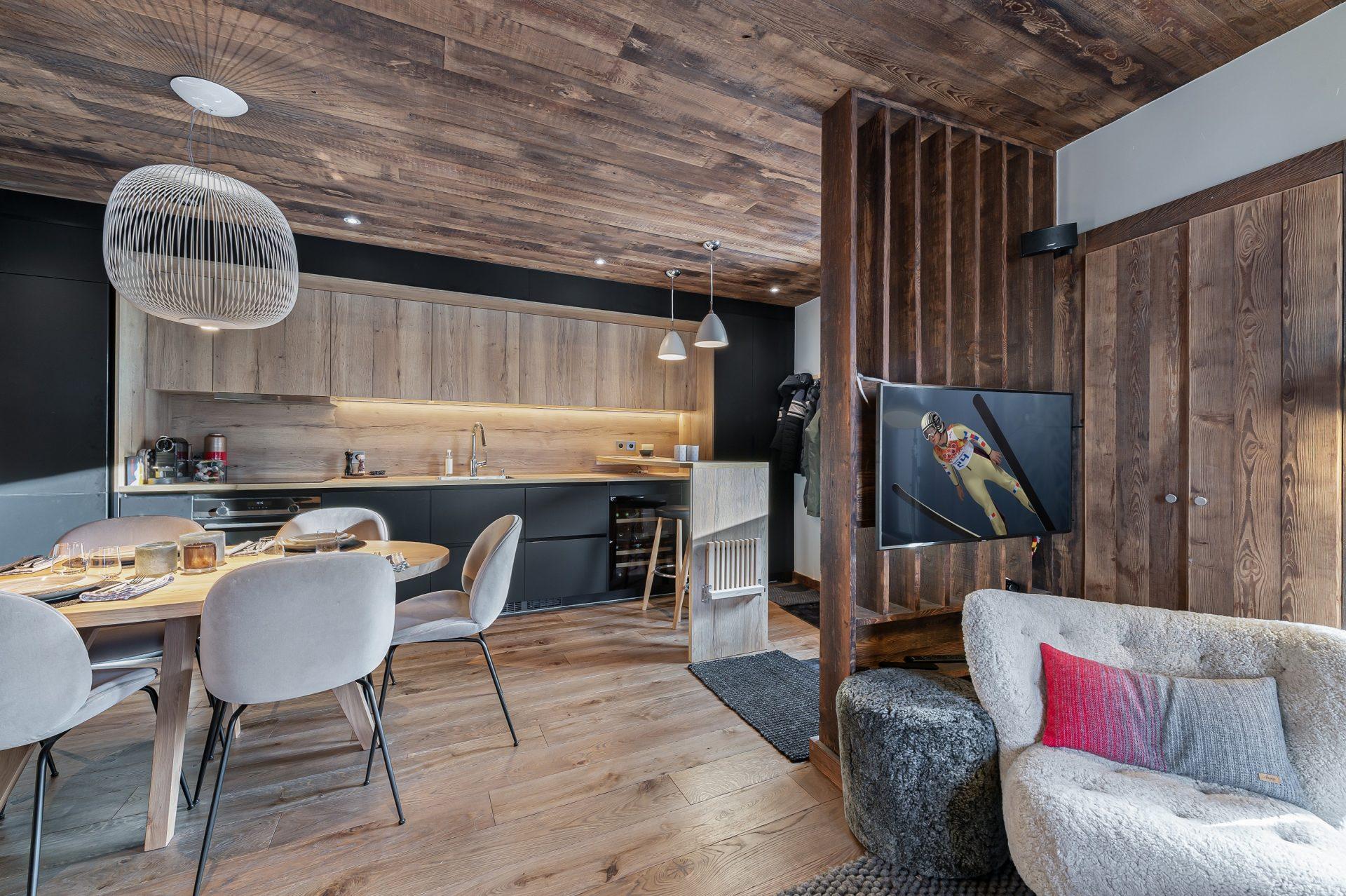 L'Epicerie / Appartement 3 / Vue entrée / Saint Martin de Belleville, Savoie