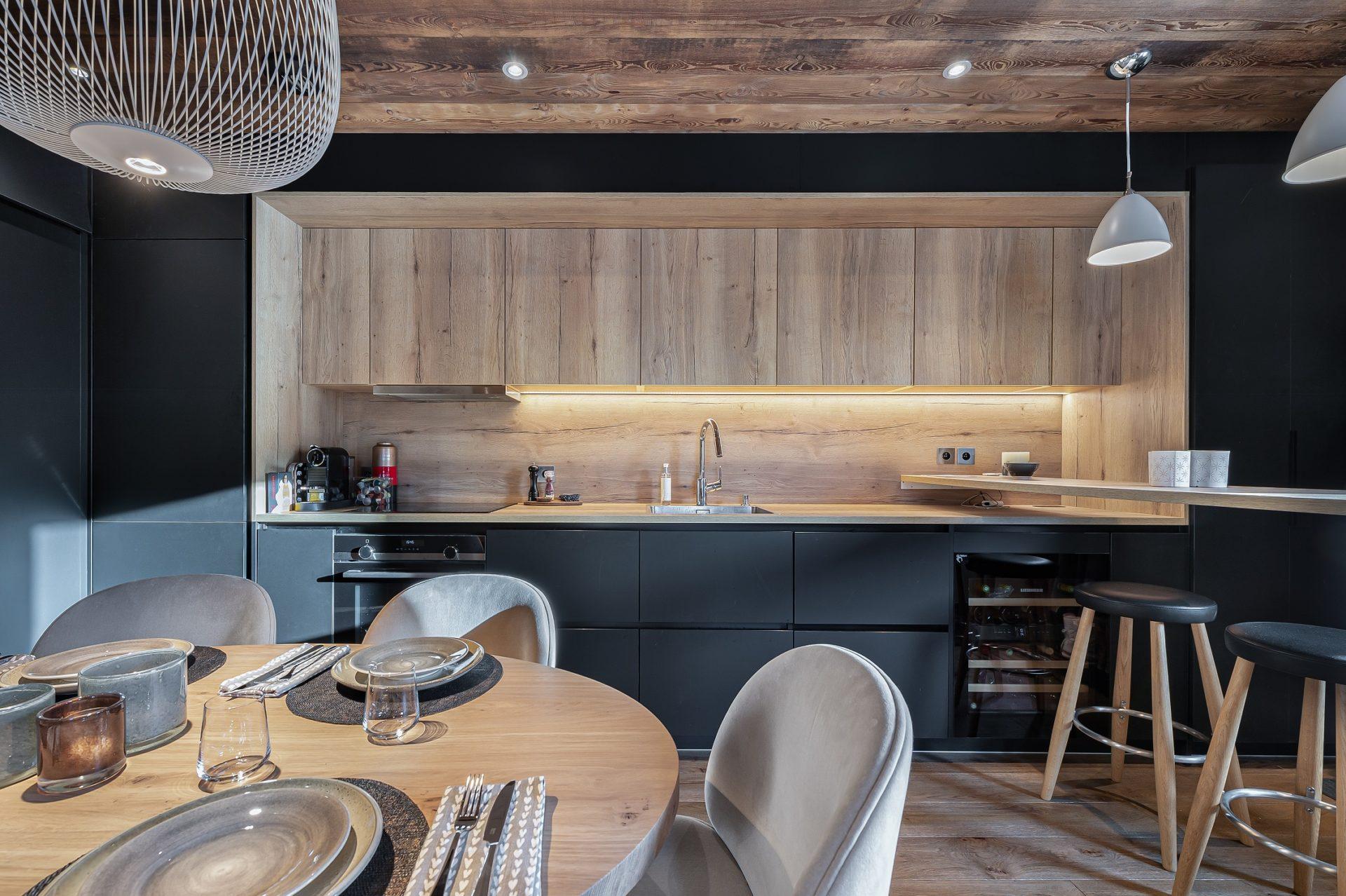L'Epicerie / Appartement 3 / Cuisine / Saint Martin de Belleville, Savoie