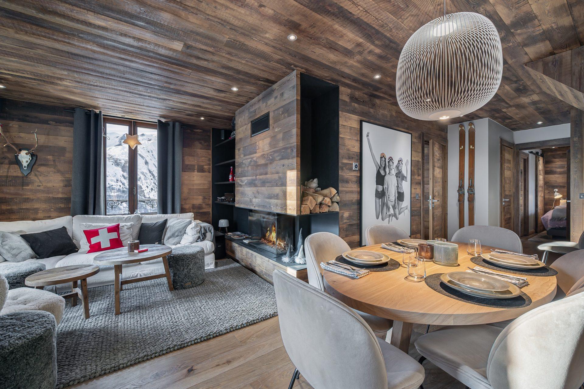 L'Epicerie / Appartement 3 / Vue ensemble / Saint Martin de Belleville, Savoie
