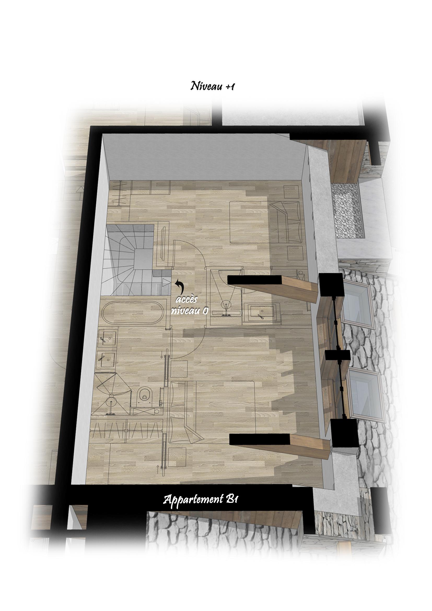 Les Chalets du Cheval Noir - Appartement B1 - Niveau +1 Saint Martin de Belleville Savoie France