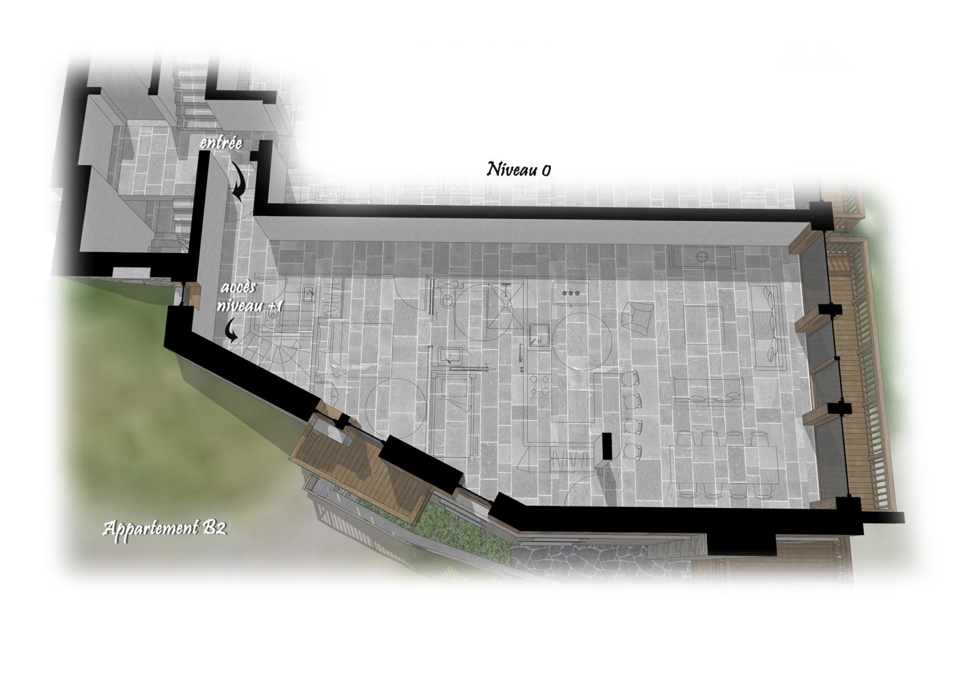 Les Chalets du Cheval Noir - Appartement B2 - Niveau 0 Saint Martin de Belleville Savoie France