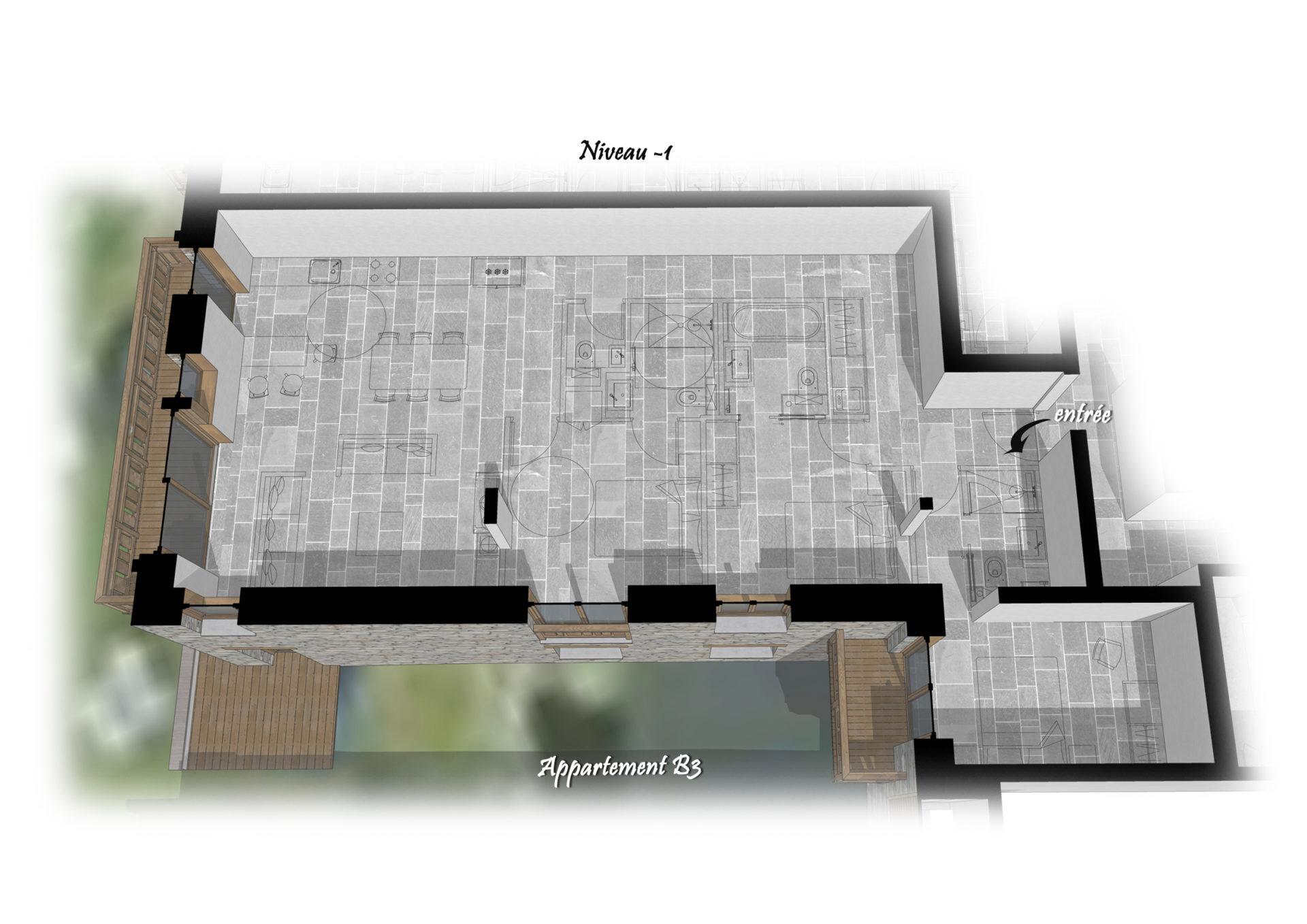 Les Chalets du Cheval Noir - Appartement B3 - Niveau -1 Saint Martin de Belleville Savoie France
