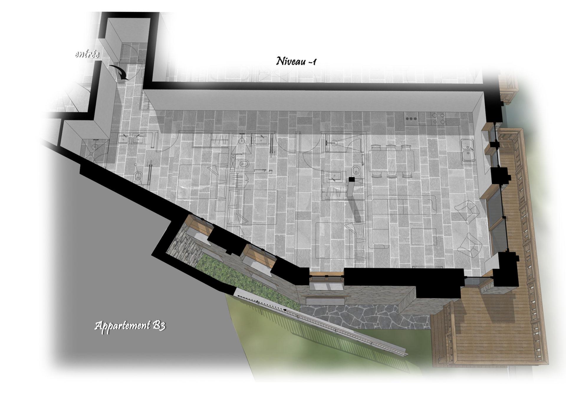 Les Chalets du Cheval Noir - Appartement B4 - Niveau -1 Saint Martin de Belleville Savoie France