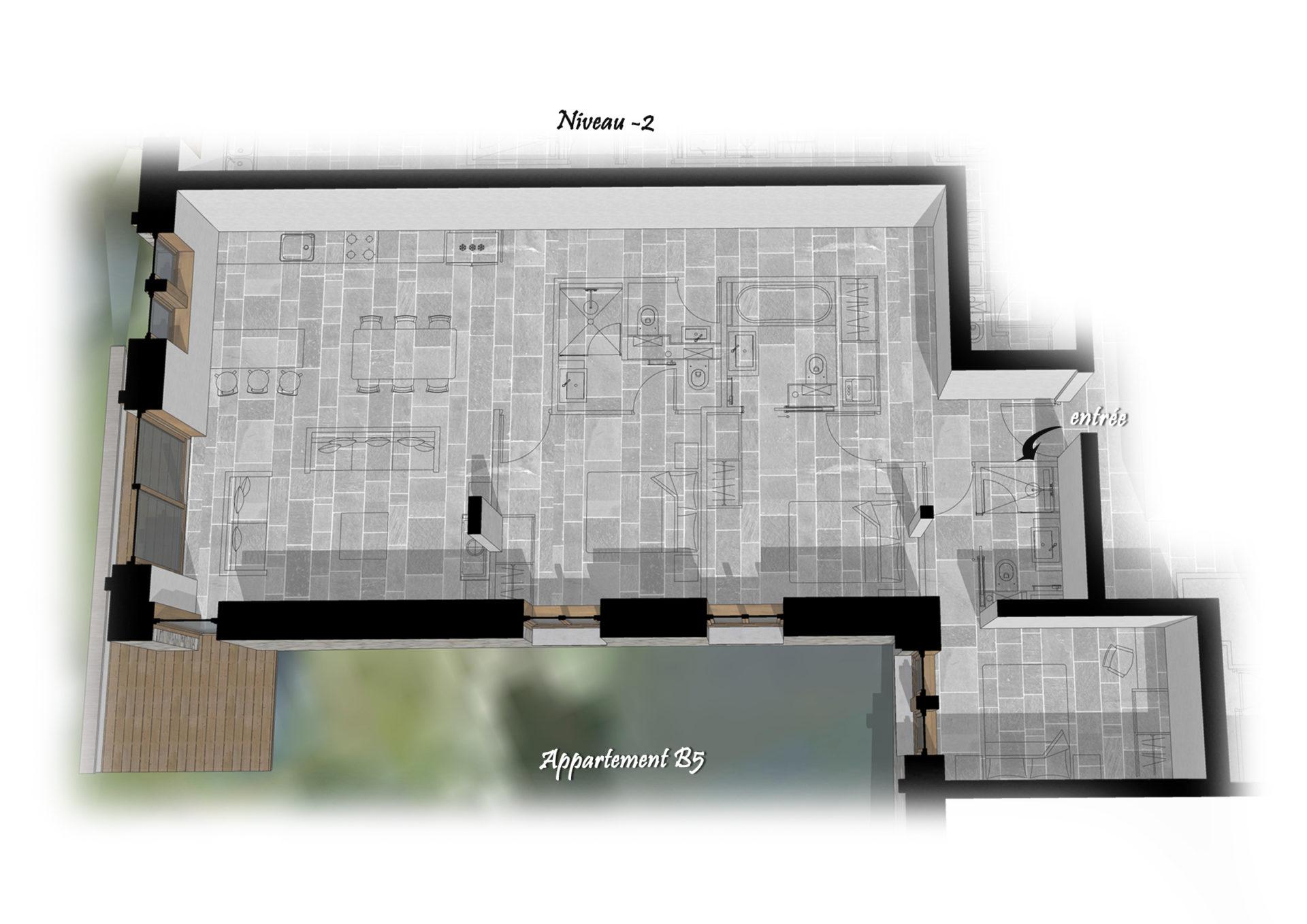 Les Chalets du Cheval Noir - Appartement B5 - Niveau -2 Saint Martin de Belleville Savoie France